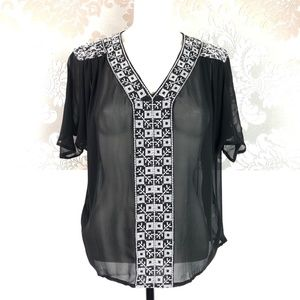 Joie Roman Embroidered Silk Blouse Sz XS NWOT